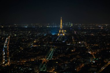 PARIS, France - May: Eiffel Tower Light Performance Show in night. The Eiffel tower is the highest monument and also most visited monument of France.