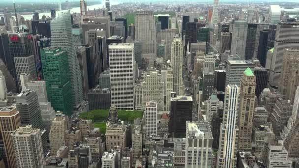 New York, cca květen: New Yorku Manhattan skyline mrakodrapy široký záběr z nejvyšší, reálném čase Panorama