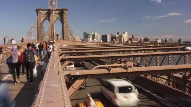 New York City Ca 2017 Fußgänger Und Autos Zu Fuß über Die