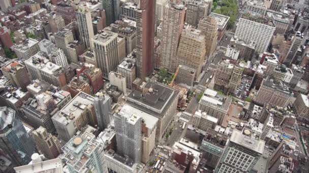 New York, USA - May 2017: View Manhattan skyline skyscrapers from Empire State Building, Manhattan,time lapse