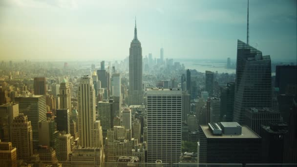 New York City - 24. června 2017: Letecký pohled na panorama Manhattanu. Čas zaniklého pohled na slavné budovy New Yorku.