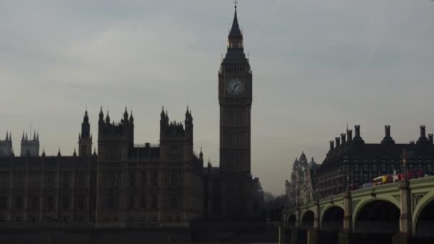 Parlament, Big Ben és a Temze Londonban, Uk.ultra hd 4k, valós időben