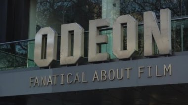 LONDON, ENGLAND - DECEMBER 19: Famous Odeon Cinema at Leicester Square - the place for London film premieres in Leicester Square