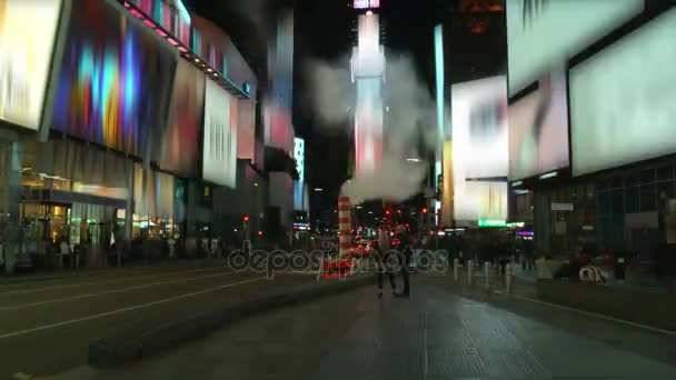 Time Lapse Of Times Square Traffic At Night,remove Logou2013 Stock Footage