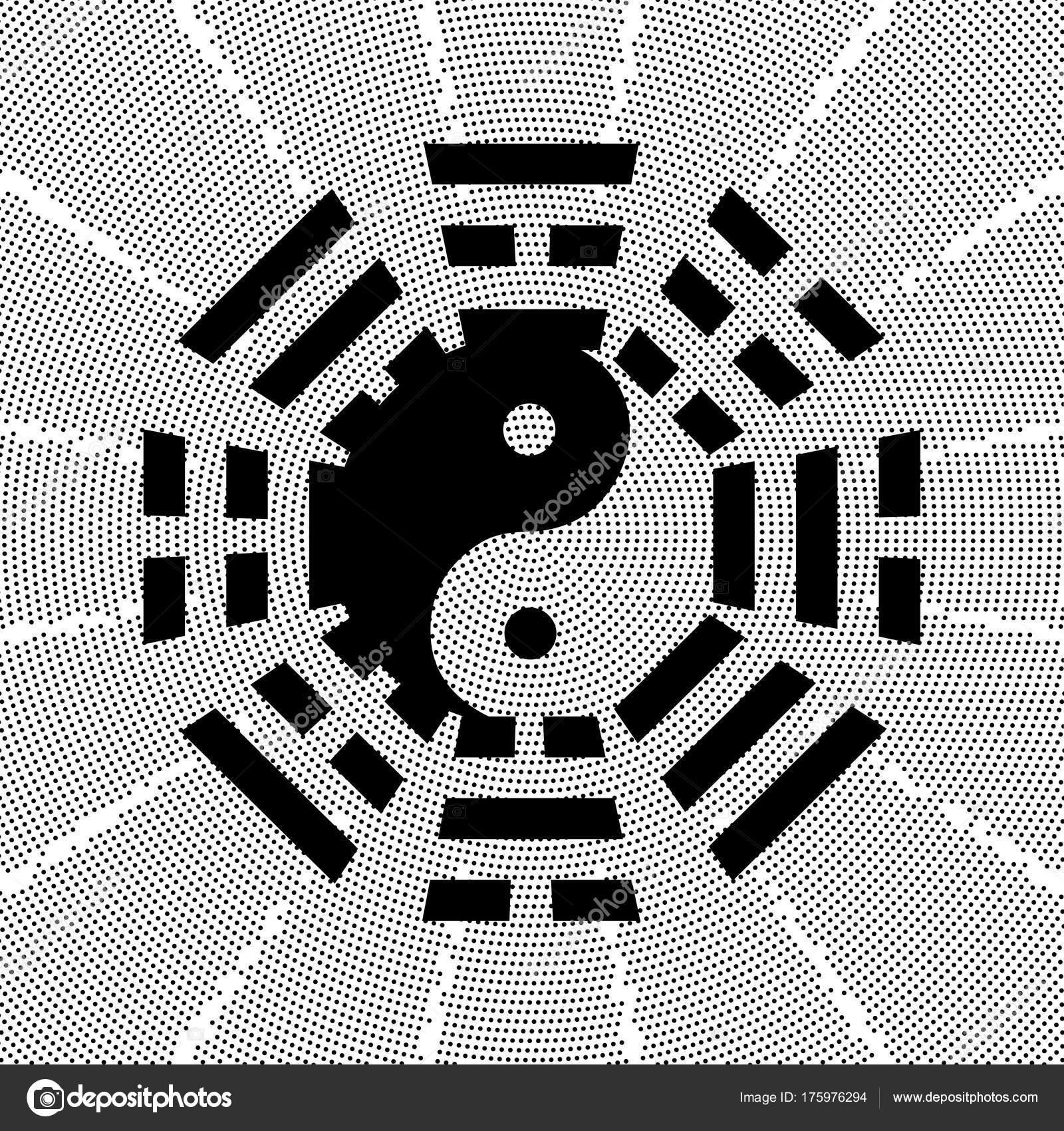 Tai Chi And Bagua Symbol Stock Vector Firehourse 175976294