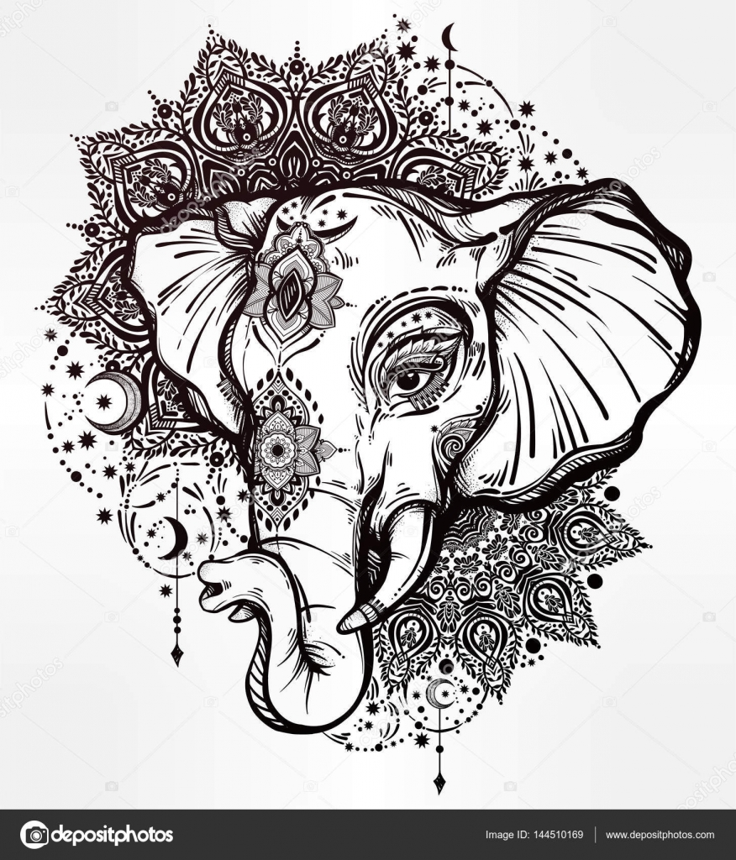 Elephant Mandala Tattoo Tattoos T Tatuajes Elefantes Y: Elefante Decorativo Con Adornos Tribales Mandala