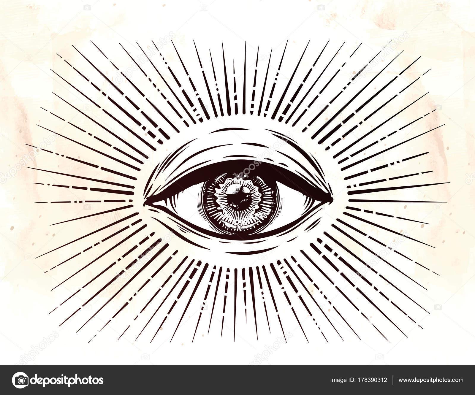 All Seeing Eye Symbol Eye Of Providence Stock Vector Katja87