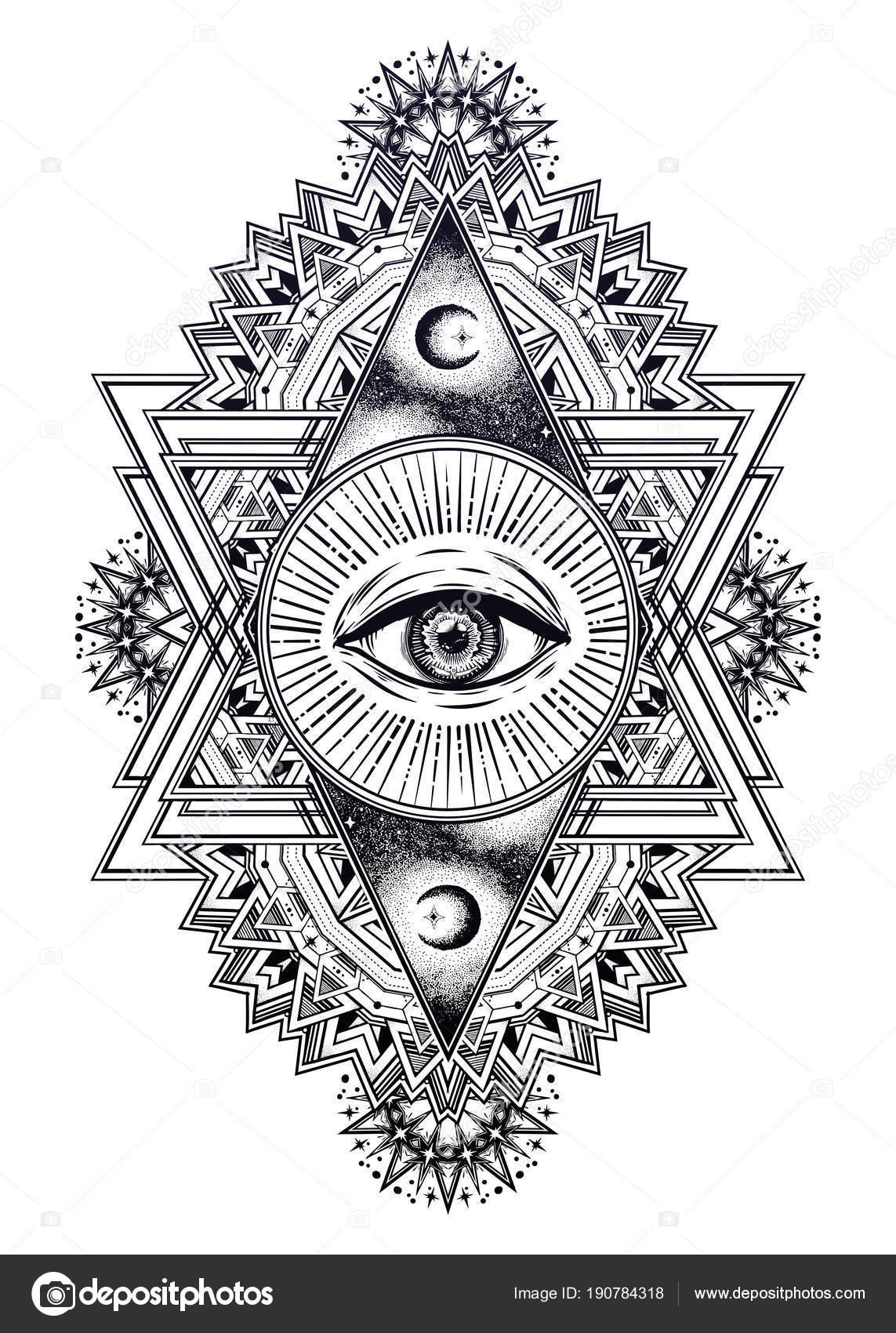 Eye For Design Bohemian Interiors And Accessories: Composizione Di Triangolo Con L'occhio Di Geometria Sacra