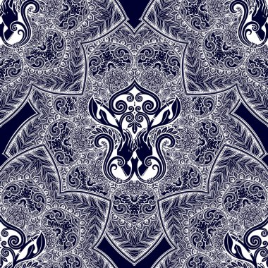 Decorative style retro seamless pattern with hands.