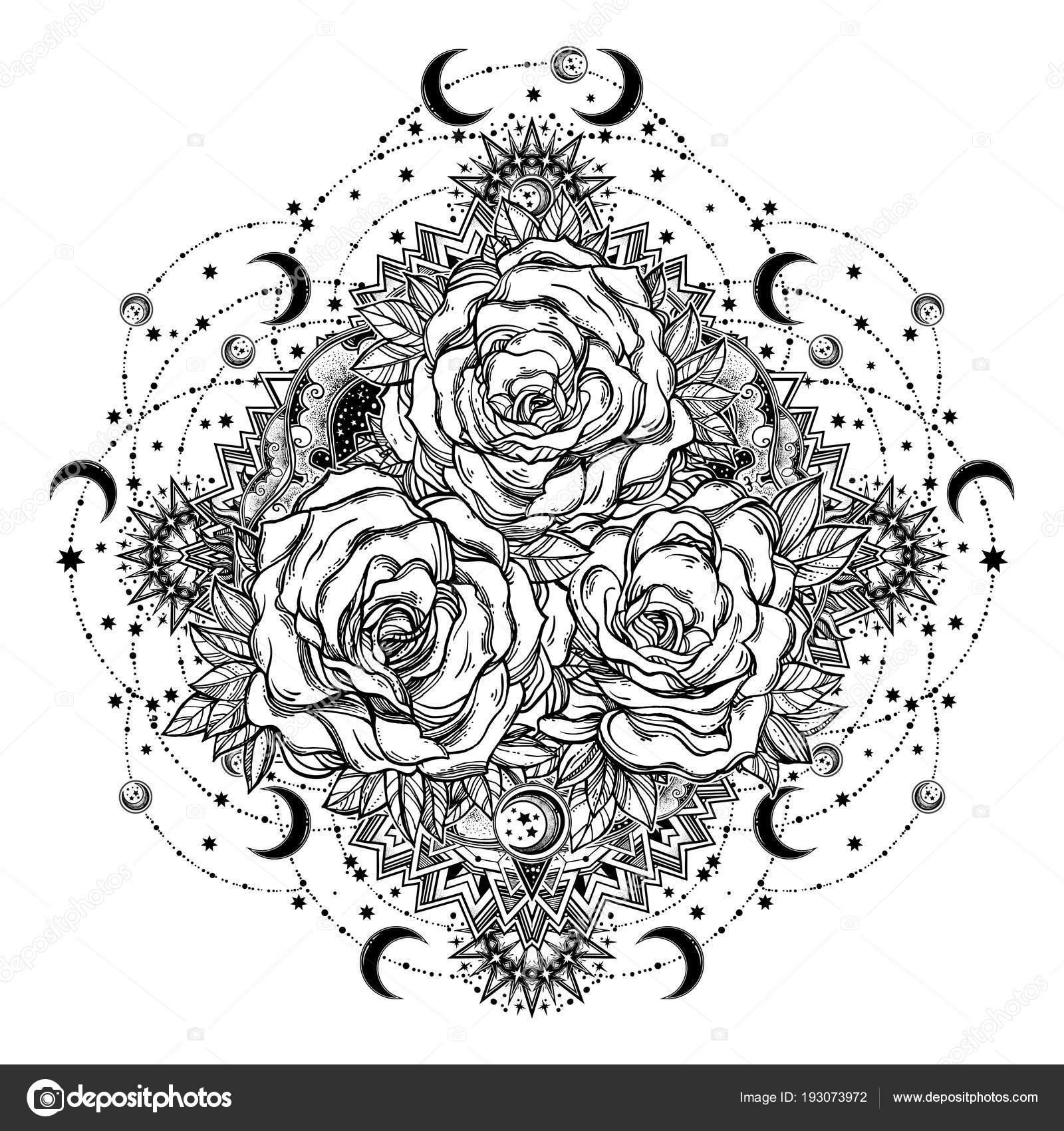 Imágenes Flores Y Estrellas Para Colorear Flores Color De Rosa En