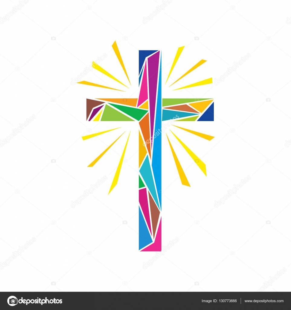 church logo christian symbols the cross of jesus christ made up