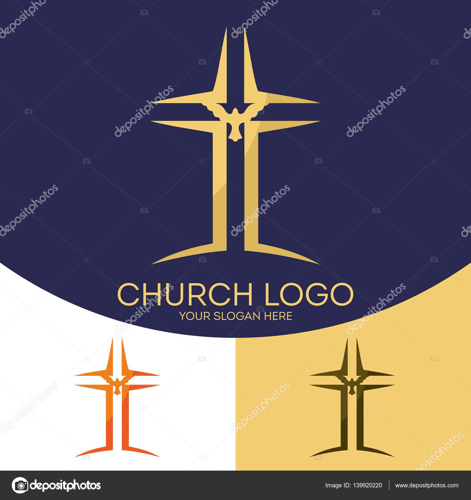 church logo christian symbols the cross of jesus christ the