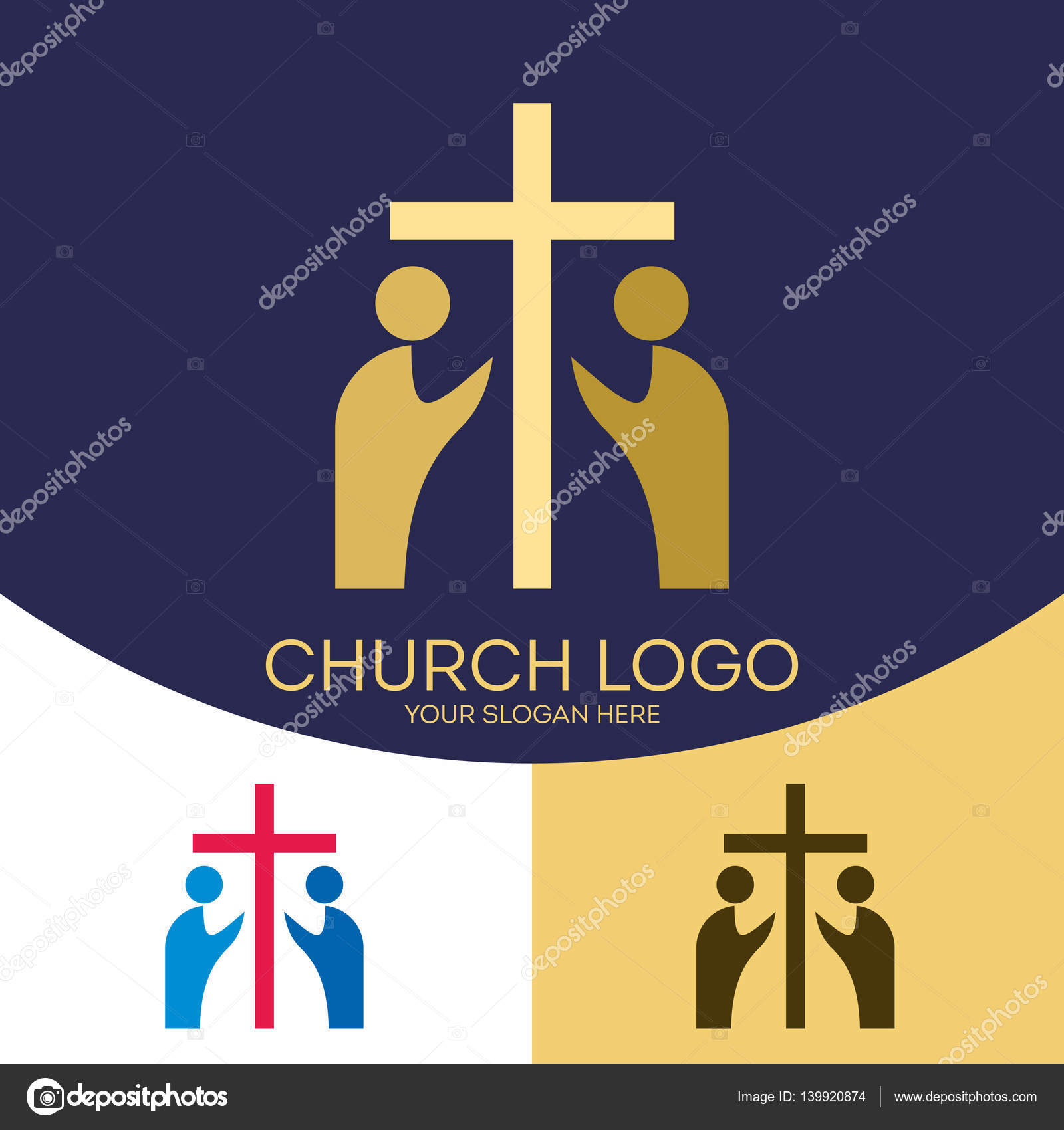 Church logo christian symbols the cross of jesus christ and the church logo christian symbols the cross of jesus christ and the people who worship buycottarizona Image collections