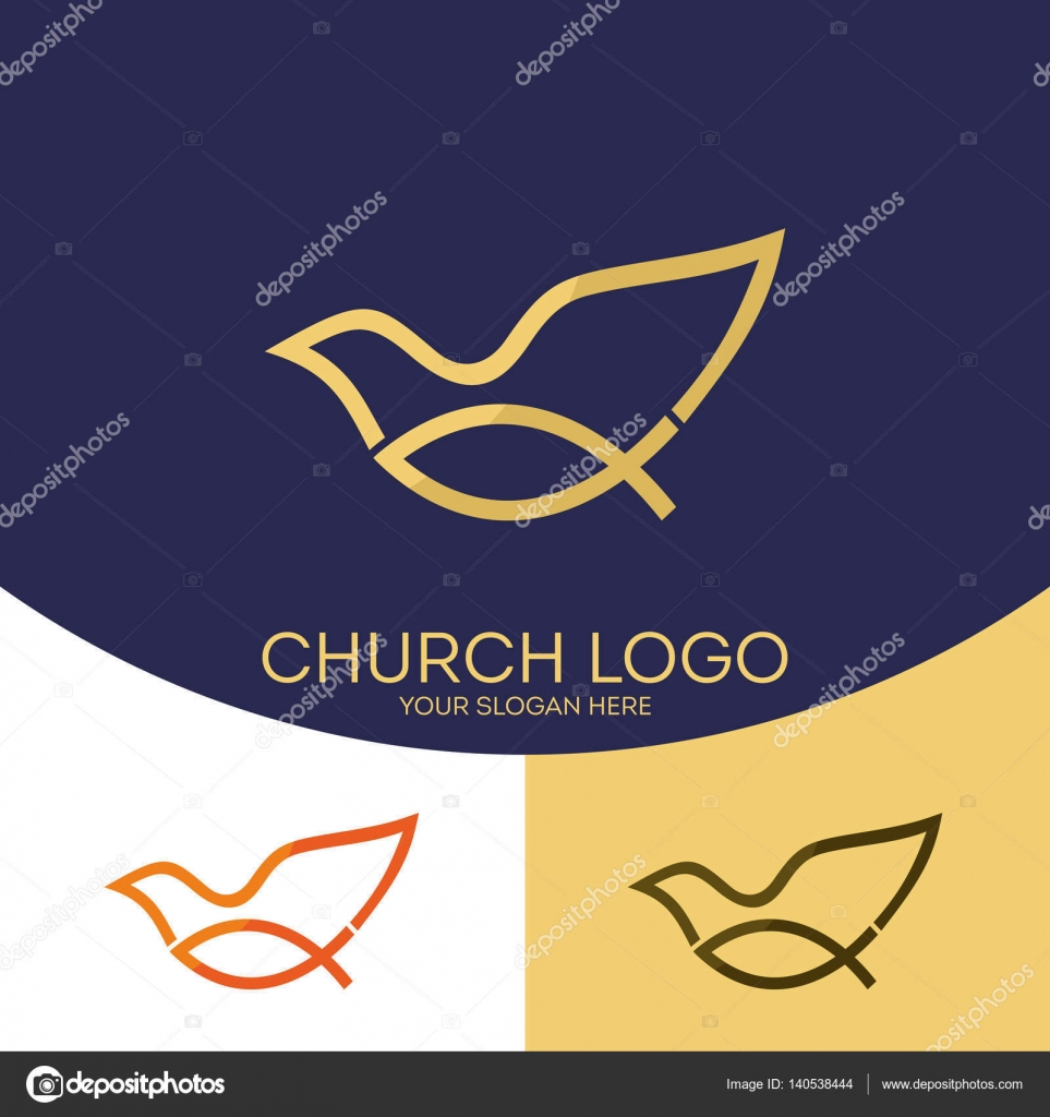 Church logo christian symbols fish jesus symbol a dove the christian symbols fish jesus symbol a dove the holy spirit vector by biblebox buycottarizona Image collections
