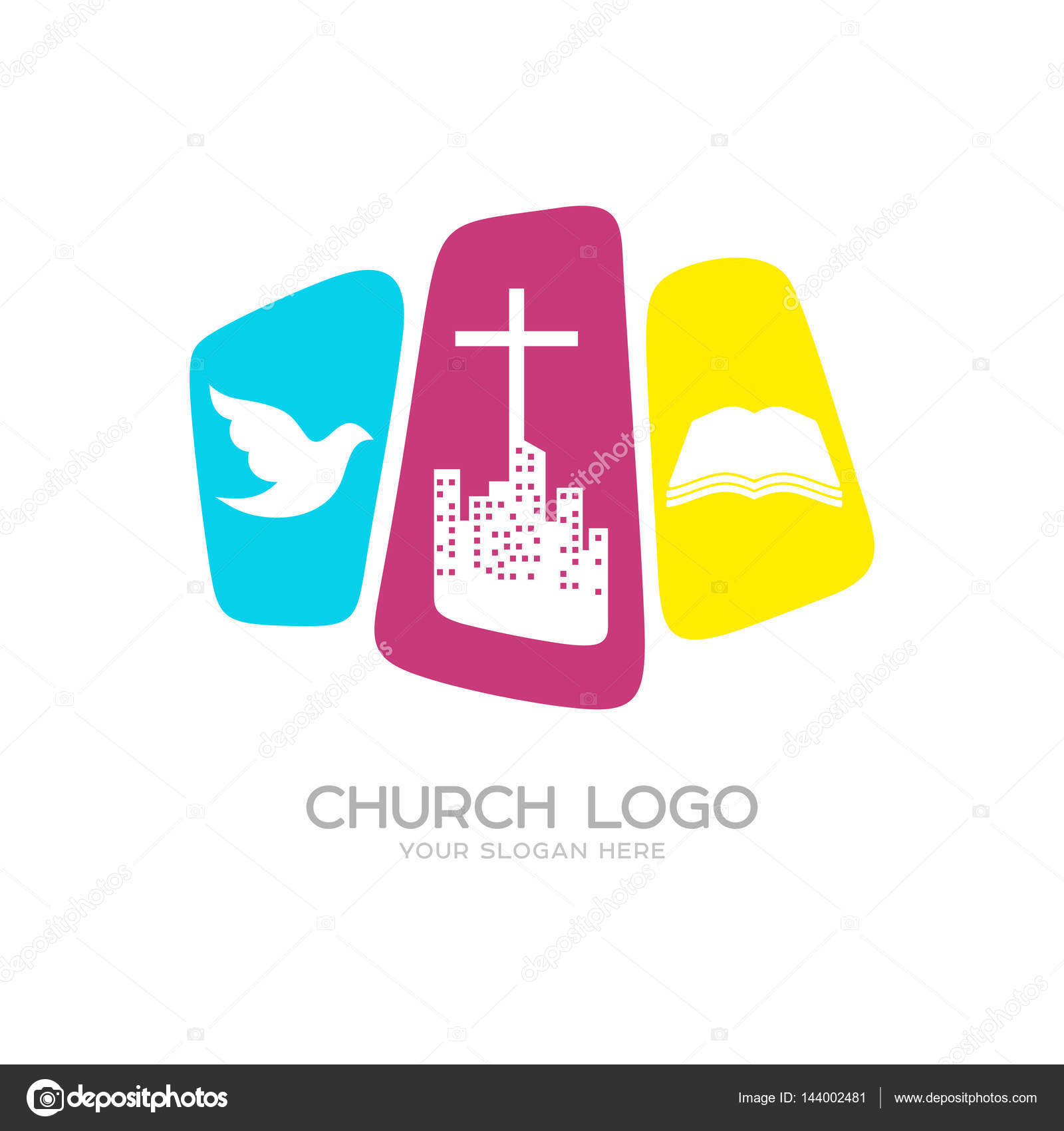 Church logo christian symbols the city and the cross of jesus church logo christian symbols the city and the cross of jesus christ a dove the holy spirit and the bible vector by biblebox altavistaventures Choice Image