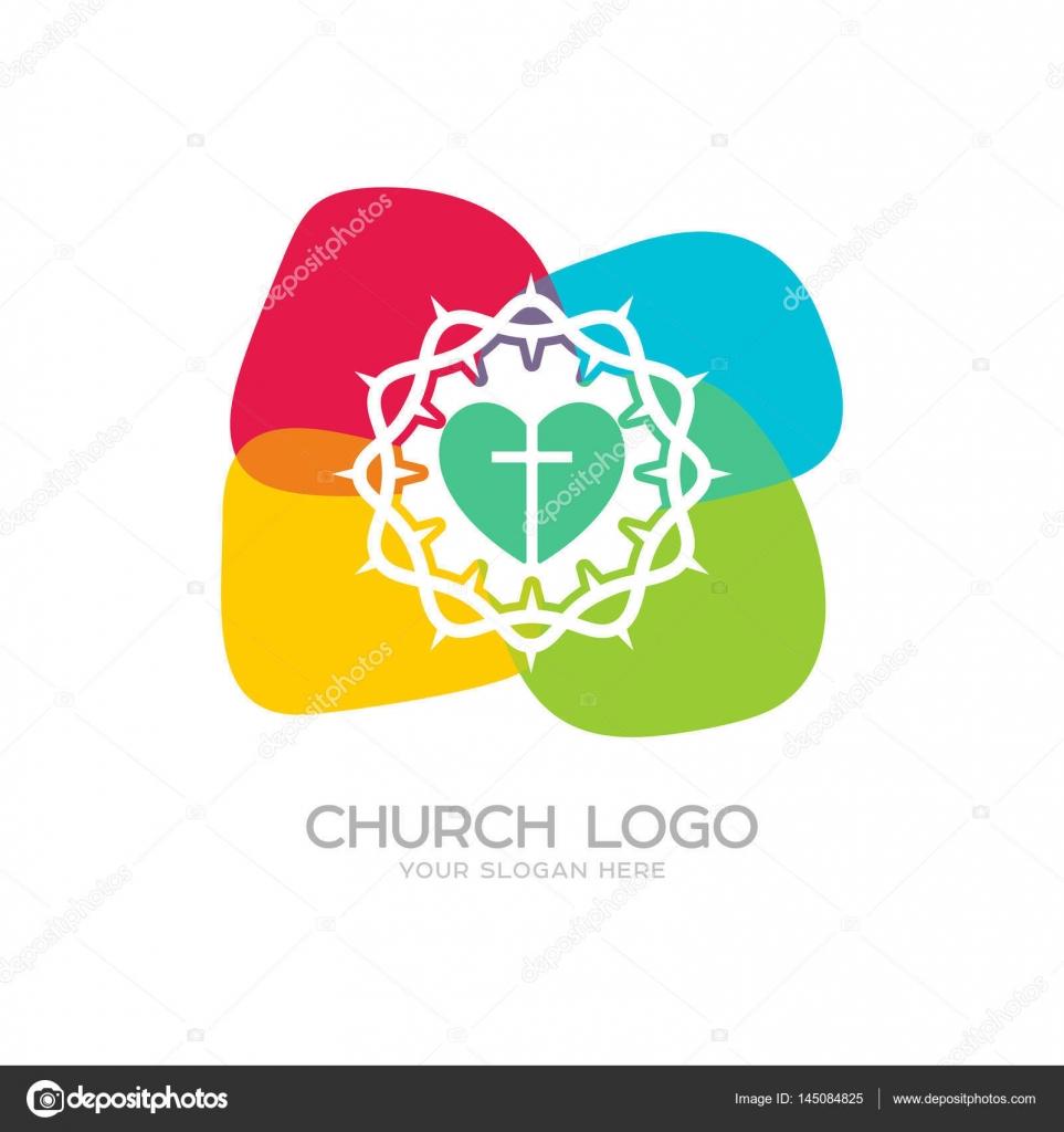 Church Logo Christian Symbols The Cross Of Jesus Christ And The