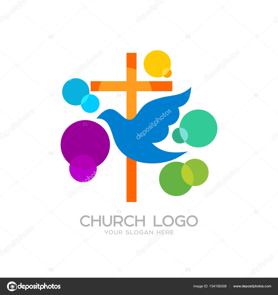 Church logo cristian symbols the cross of jesus and the dove church logo cristian symbols the cross of jesus and the dove colored circles thecheapjerseys Gallery