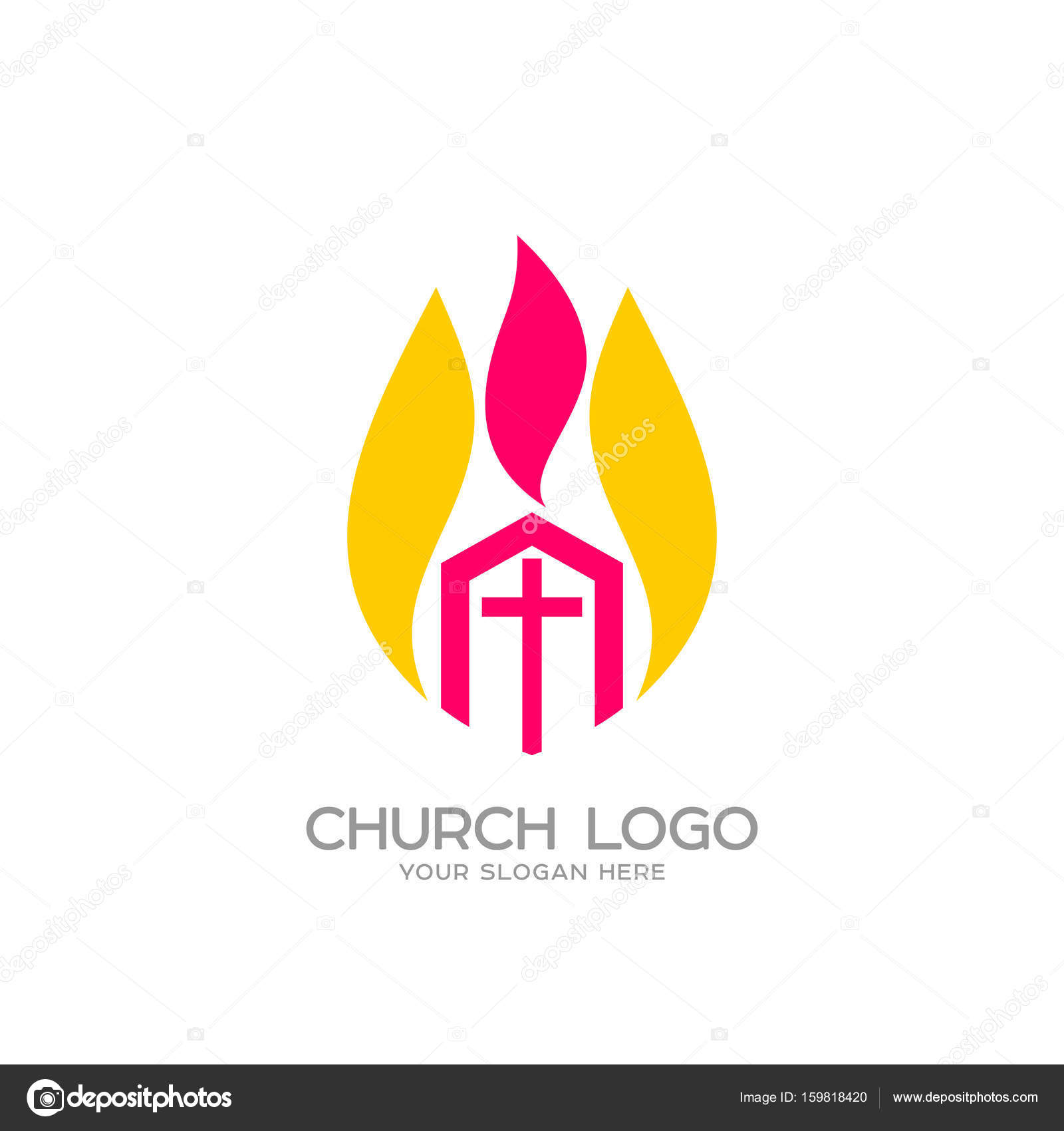 Church Logo Christian Symbols The Church Of Christ And The Flame