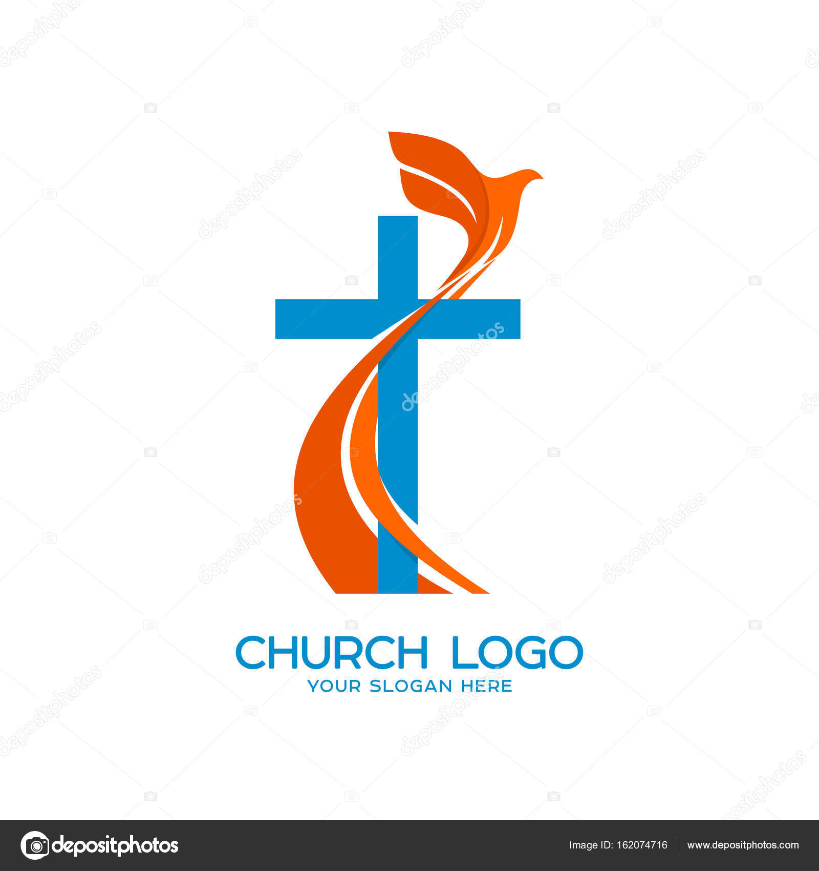 Church logo christian symbols cross and a flying dove a symbol christian symbols cross and a flying dove a symbol of the biocorpaavc