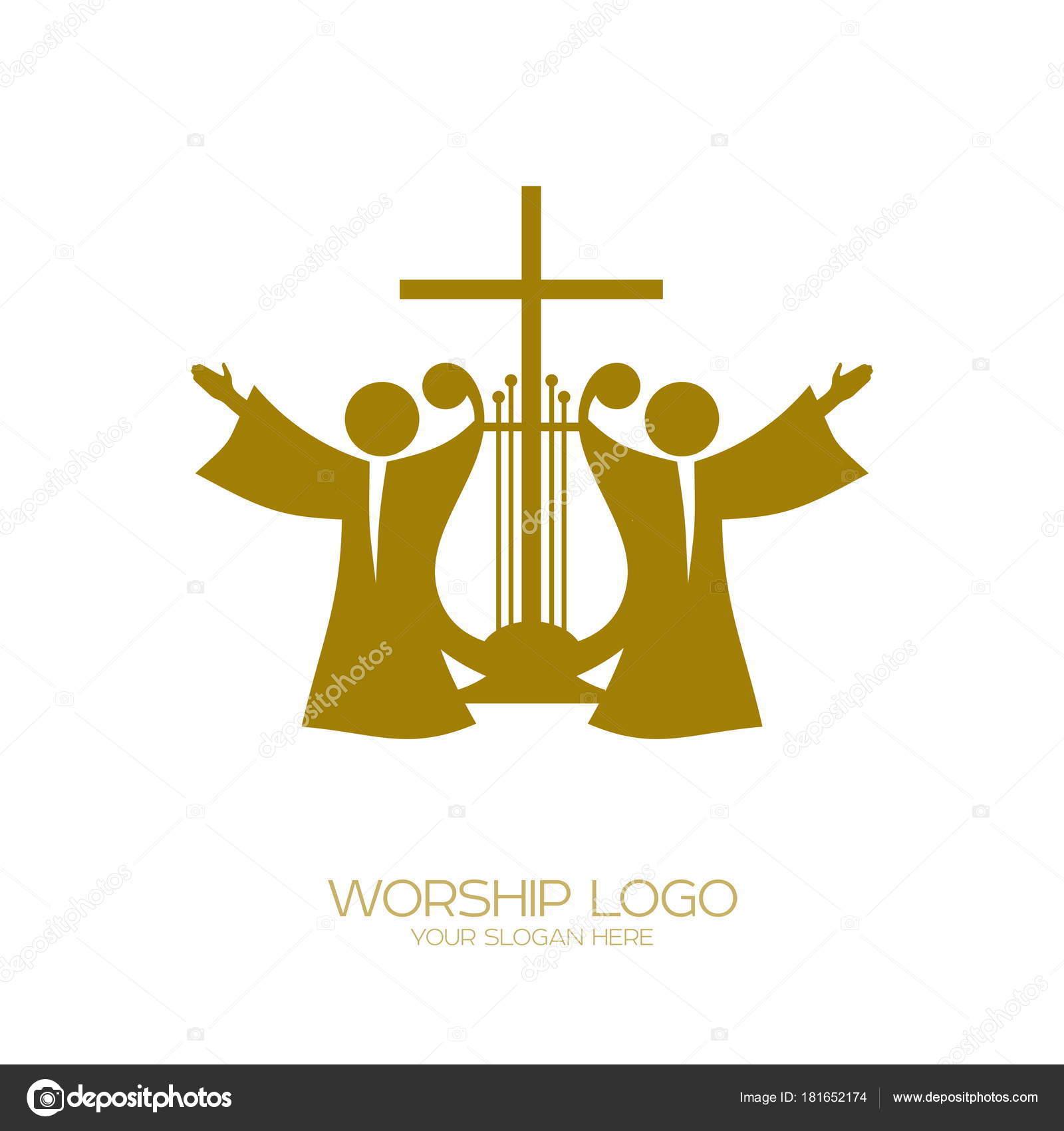 Music Logo Christian Symbols Believers Jesus Sing Song