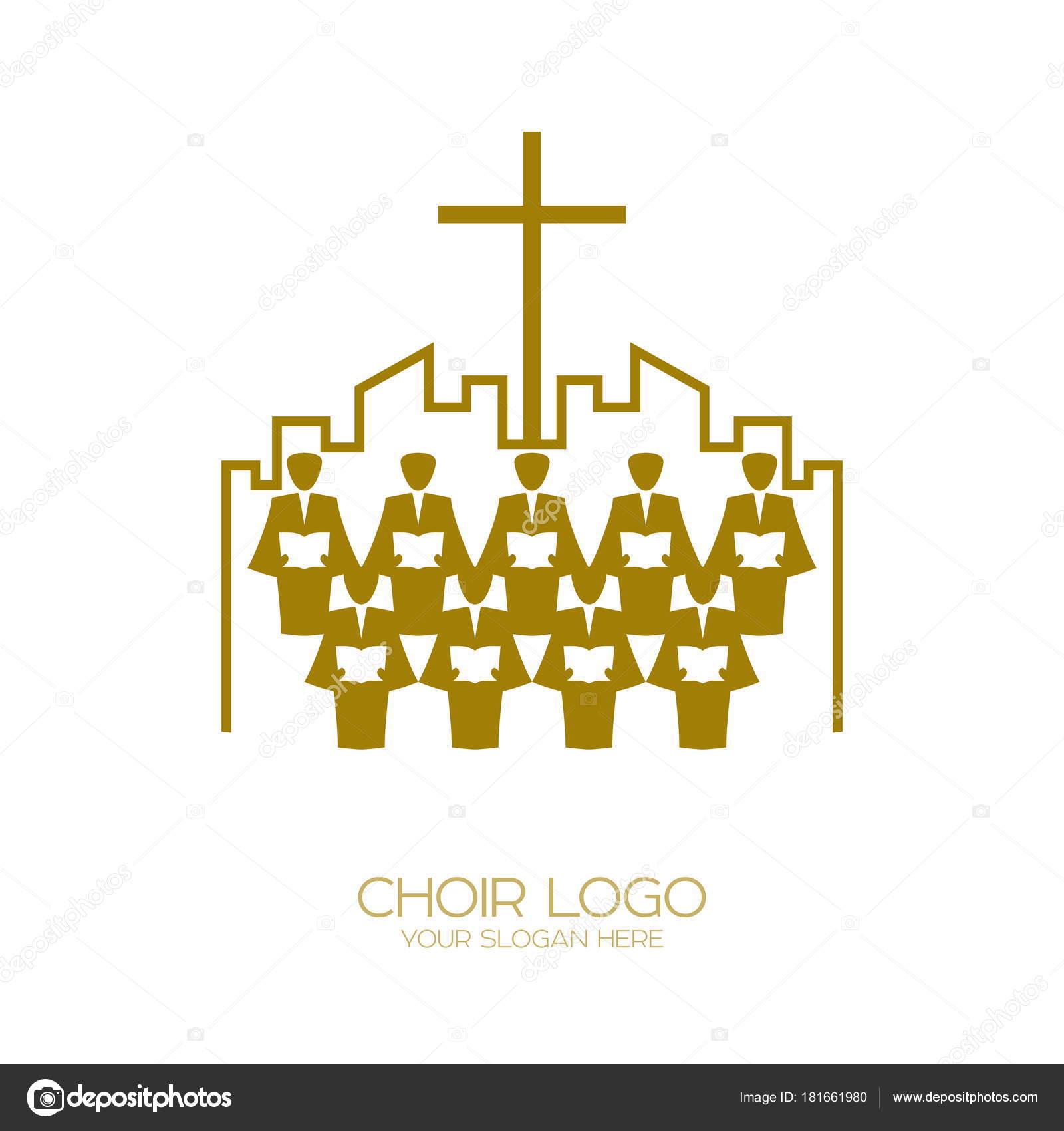 Music Logo Christian Symbols Church God Sings Jesus Christ Song