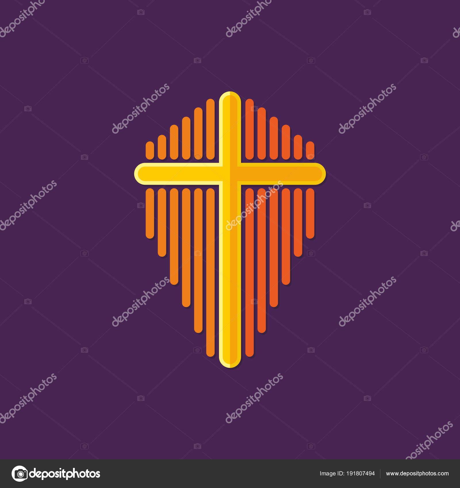 Church Logo Cross Jesus Christ Symbol Death Victory Sin Stock