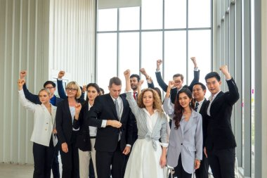 Group of business people in Business successful education on sem