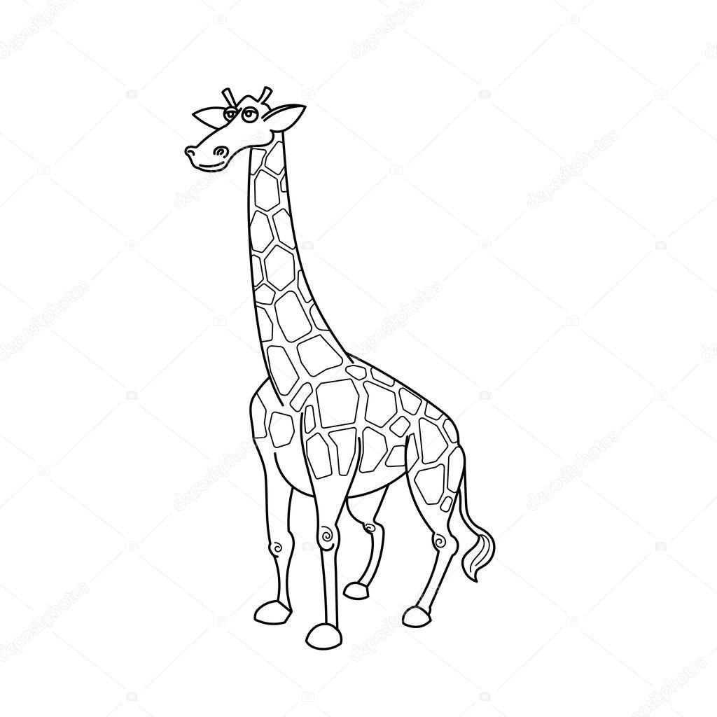 Animales de la sabana africana de jirafa de libro para colorear ...