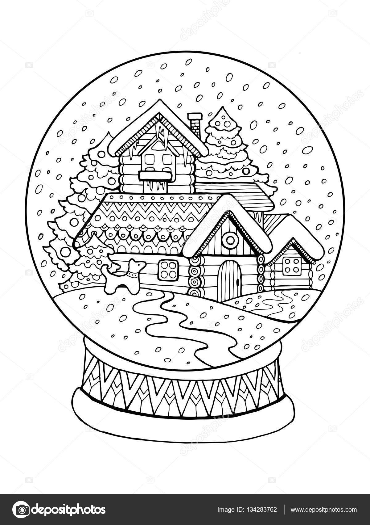 Vector De Navidad Cristal Esfera Para Colorear Vector De Stock