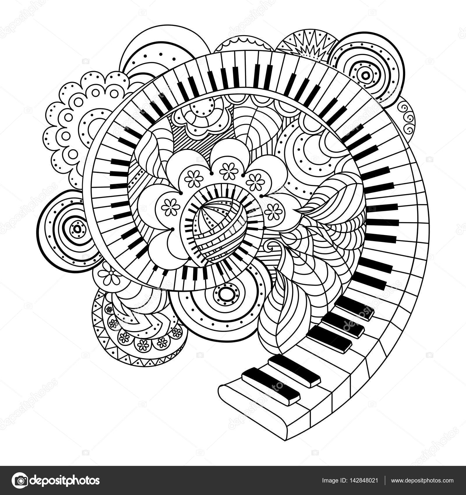 Libro de Resumen de instrumentos musicales para colorear — Archivo ...