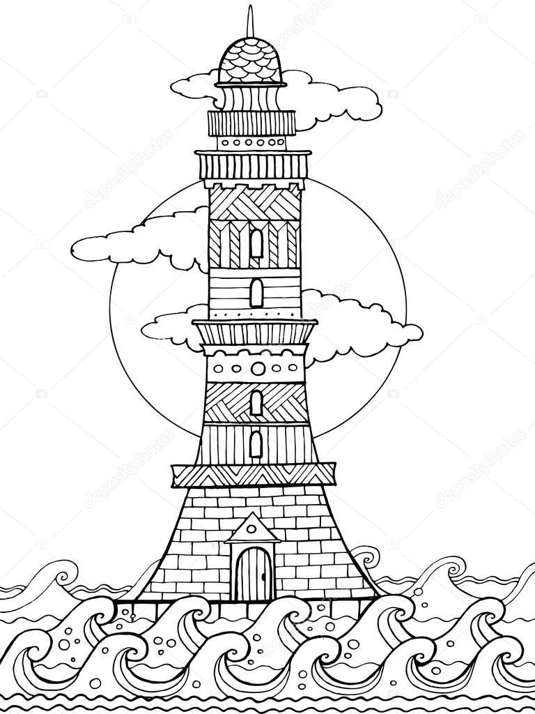 Deniz Feneri Resmi Boyama Coloring Free To Print