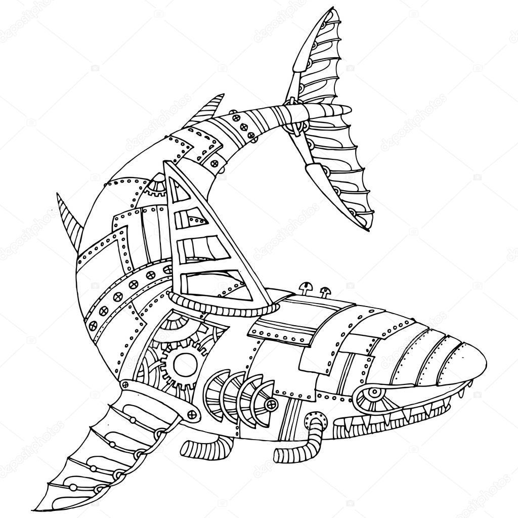 Ya Kleurplaat Im 225 Genes Tiburones Para Dibujar Tibur 243 N De Estilo Punk