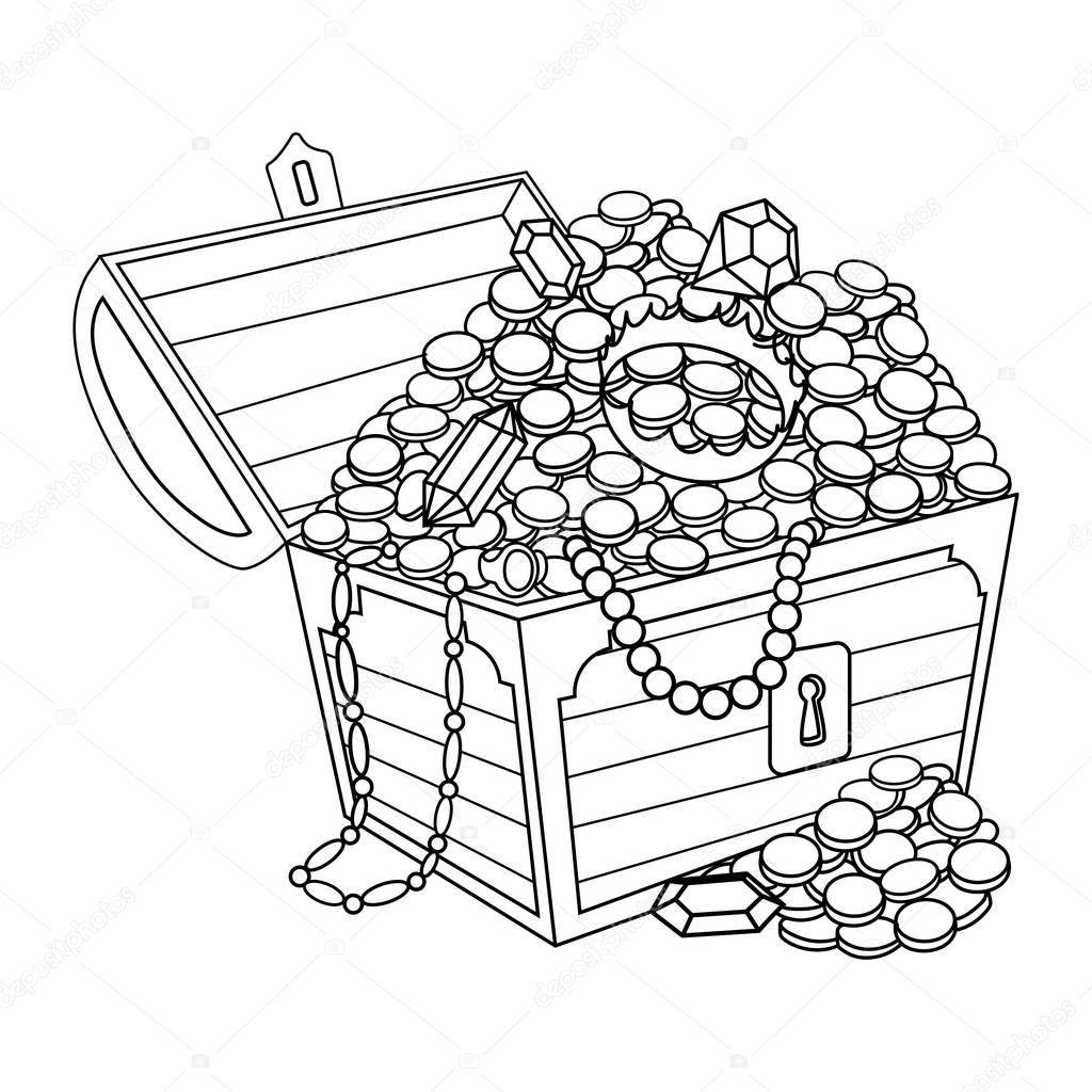 gold and jewels coloring pages - photo#18