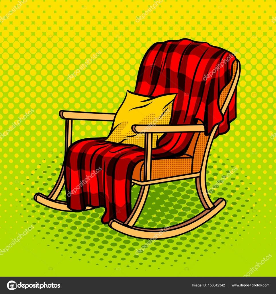 Illustration Vectorielle De Chaise Berante Pop Art Style Imitation Bande Dessine Vecteur Par AlexanderPokusay