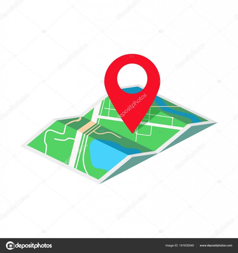 geo térkép Geo cédula izometrikus vektoros illusztráció Térkép — Stock Vektor
