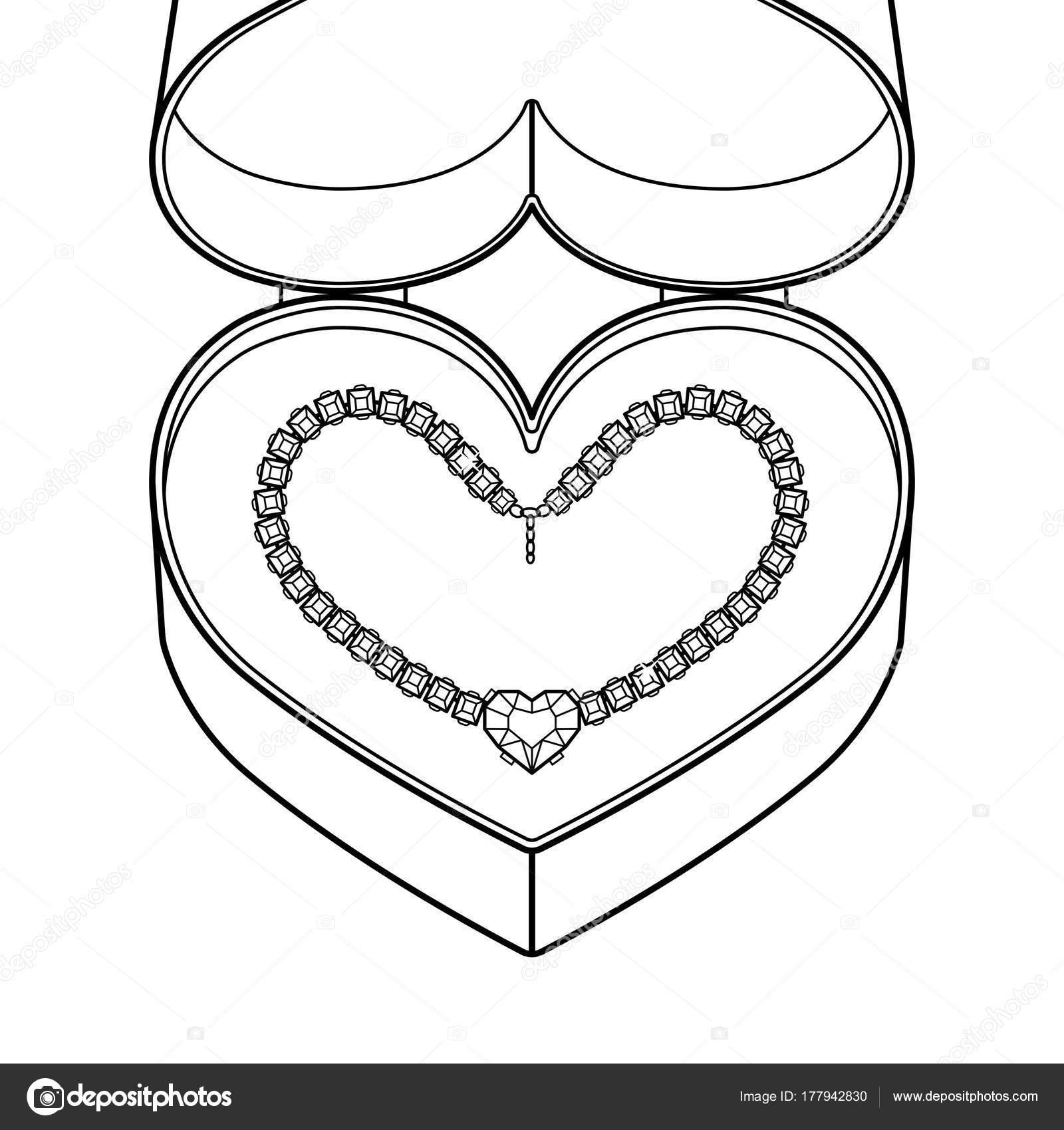 Collar de diamantes para colorear vector libro — Vector de stock ...