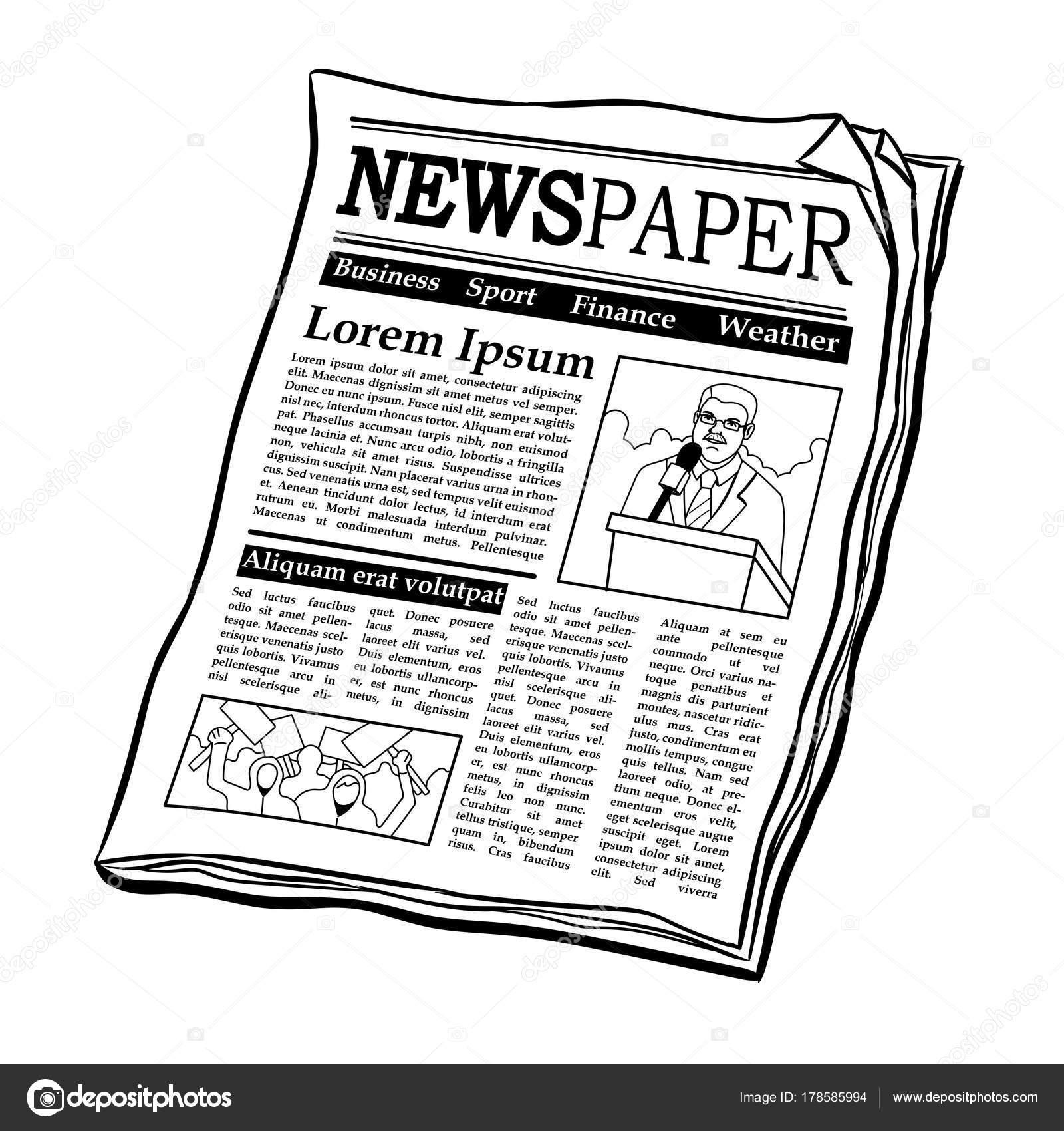 Animado Periodico Para Colorear Colorear Ilustración De Vector De
