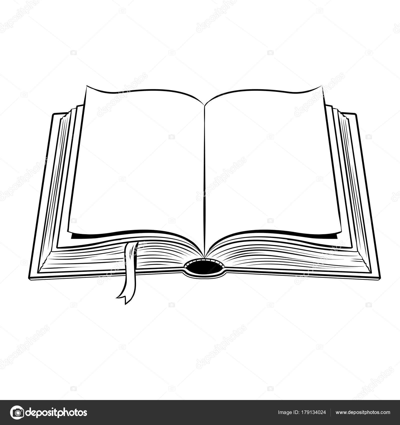 open boek kleurplaat vectorillustratie stockvector