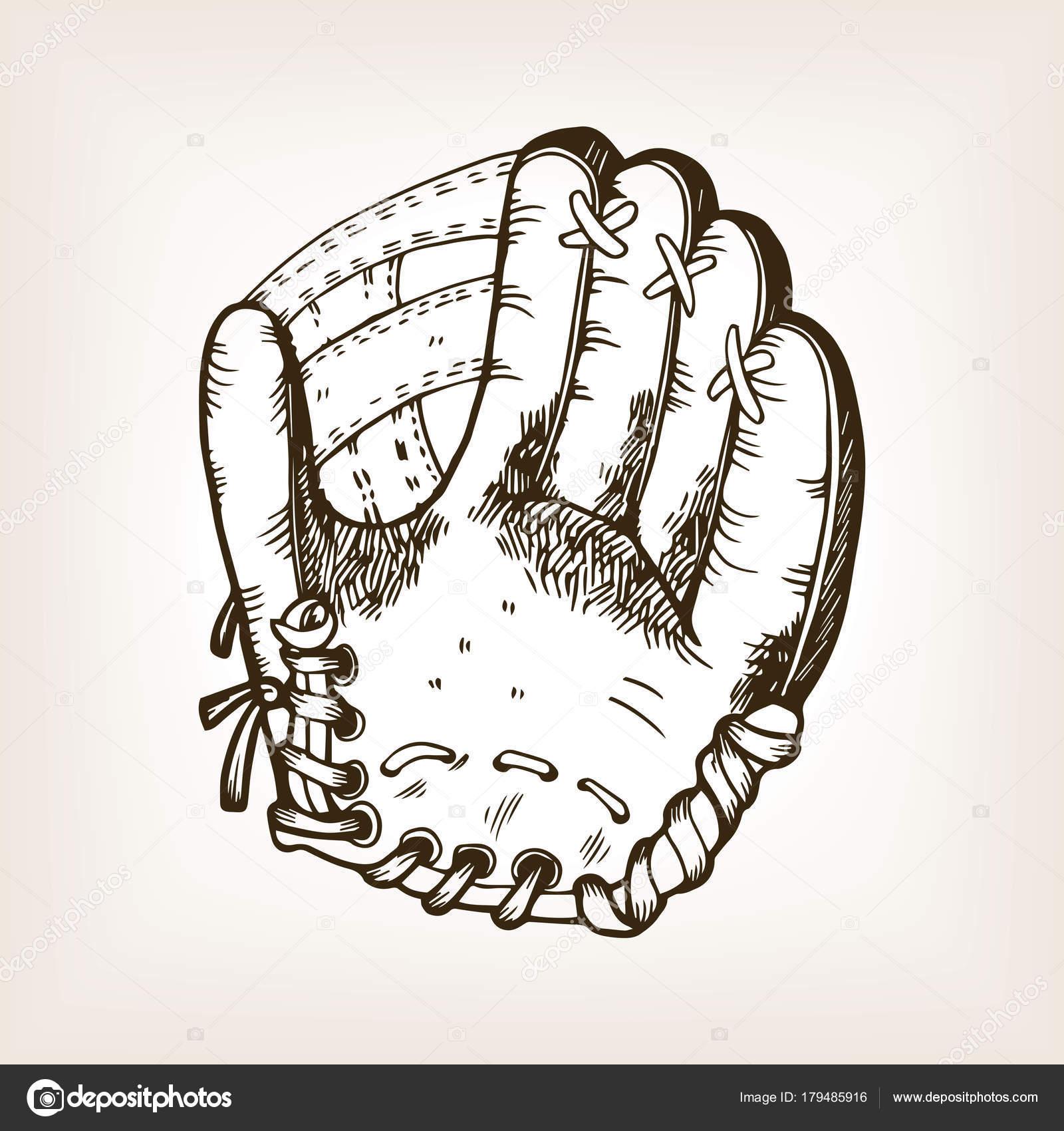 Ilustración de vector de béisbol equipo grabado — Archivo Imágenes ...