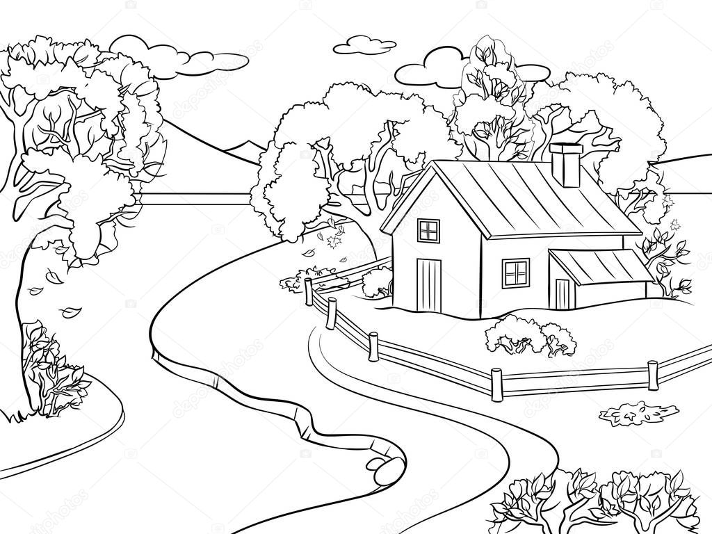 rural community coloring pages - photo#40