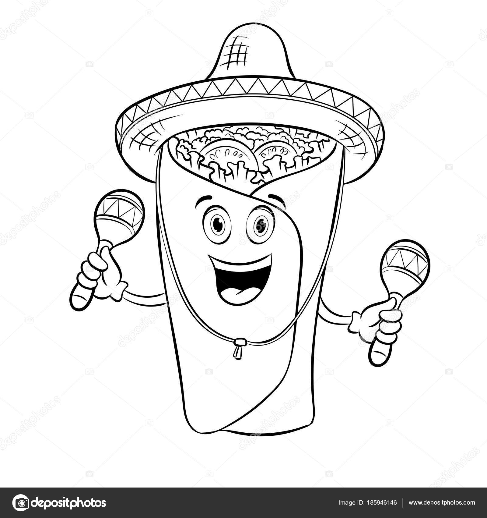 Dibujos: sombreros mexicanos para colorear | Burrito y maraca para ...