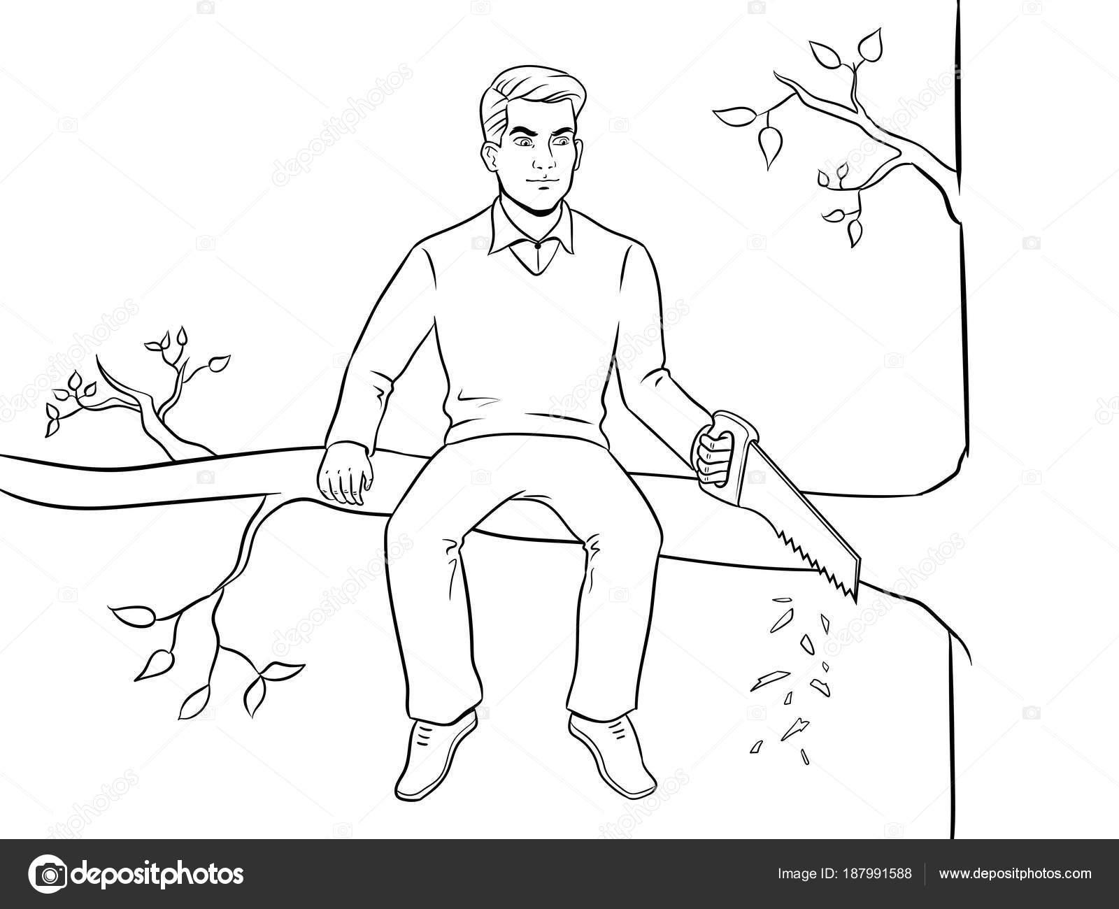 Imágenes: Hombre Sentado Para Colorear
