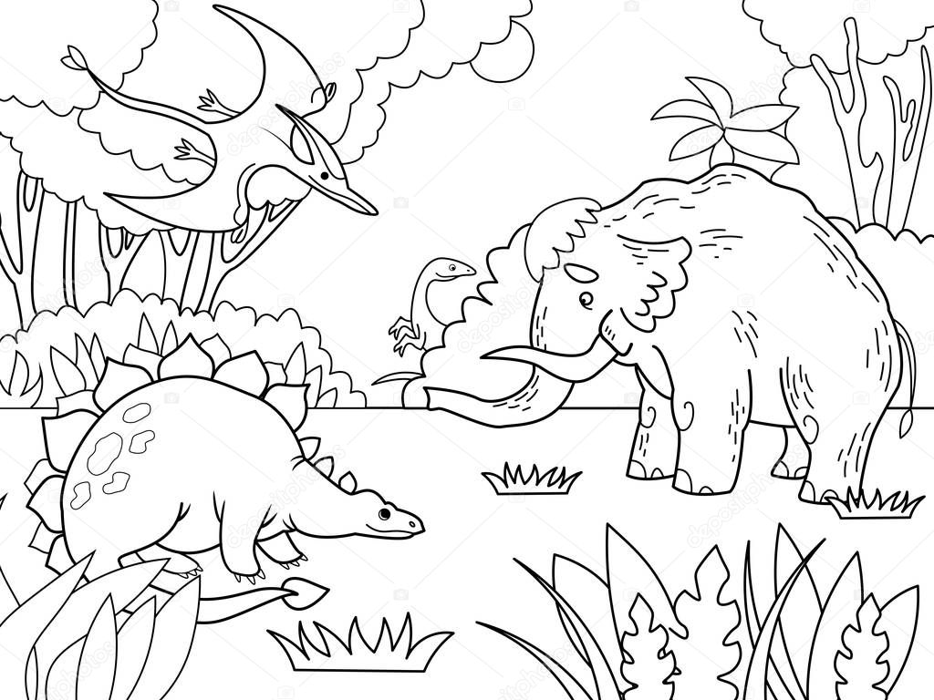 Imagenes De Niños Para Colorear Animados: Imágenes: Animales Prehistoricos Para Colorear