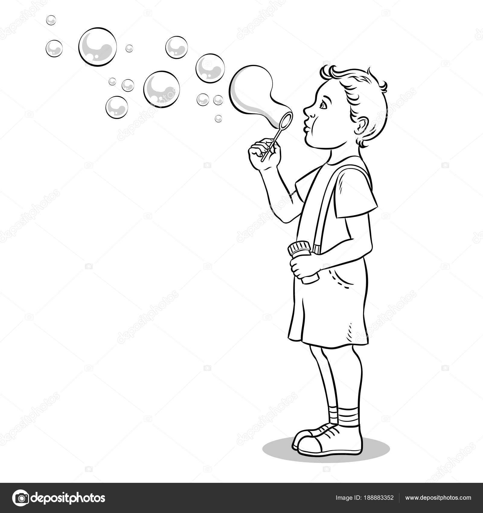 Encantador Cachorro De Burbujas Para Colorear Imagen - Dibujos Para ...