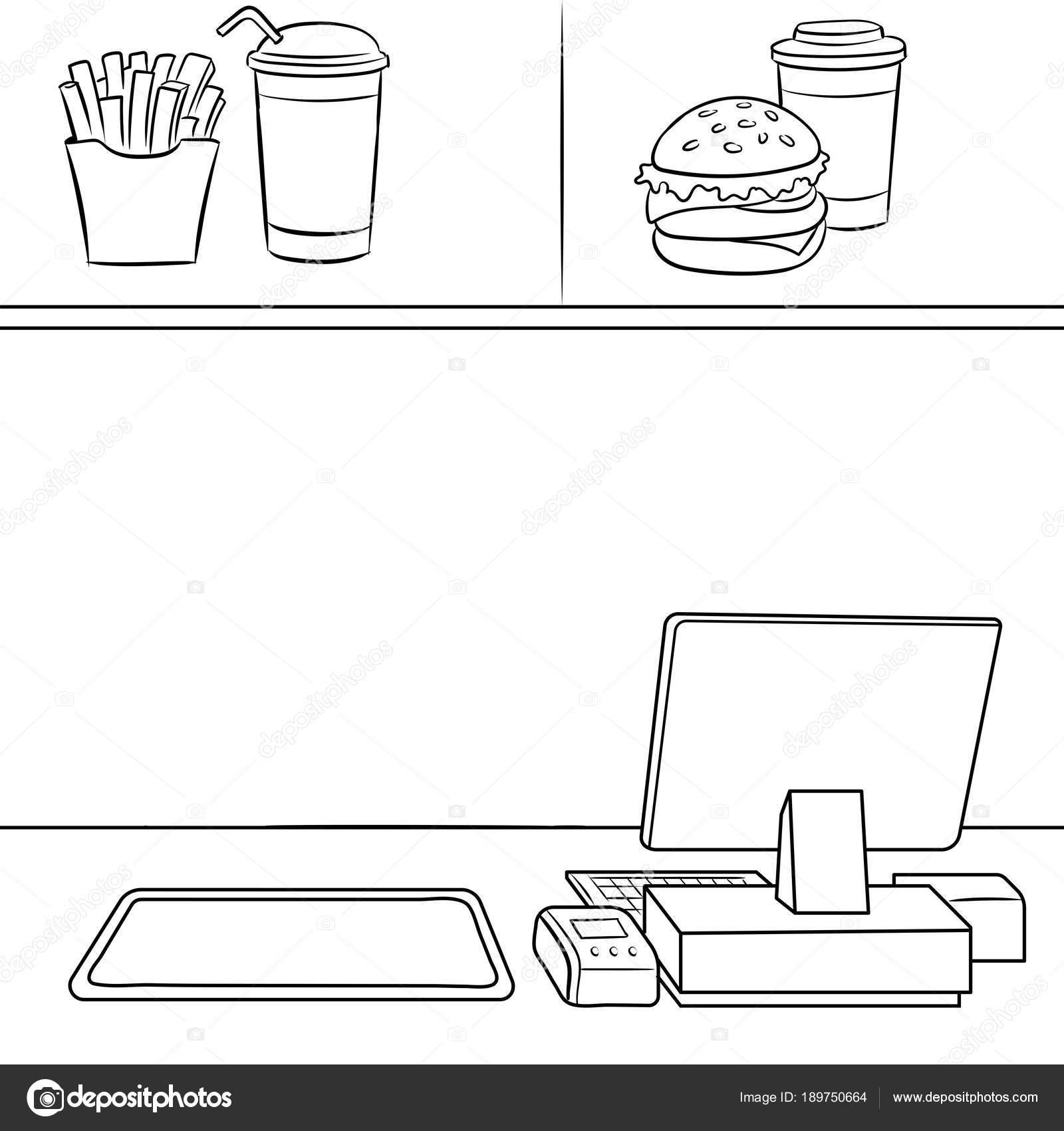 Animado Dibujo Restaurante Para Colorear Restaurante De Comida