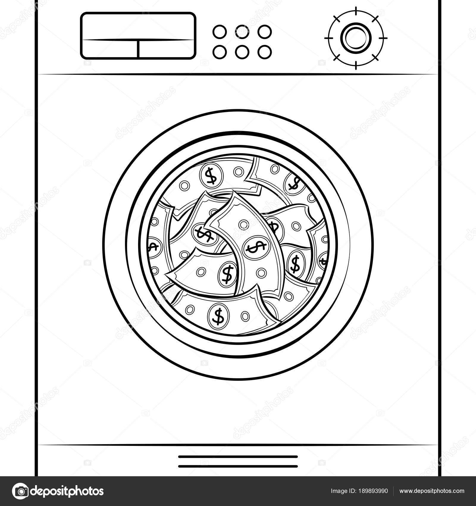 wasmachine kleurplaat