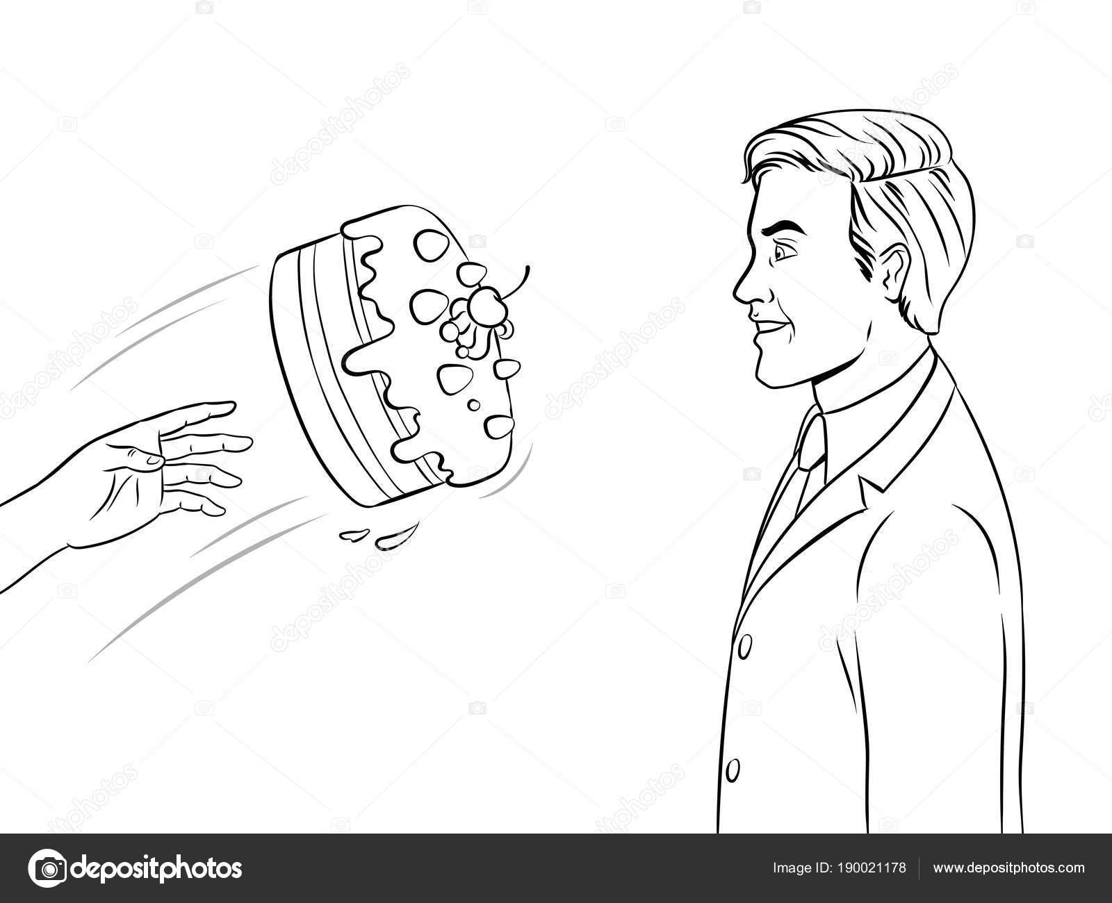 Torta se inicia en la cara para colorear la ilustración del libro ...