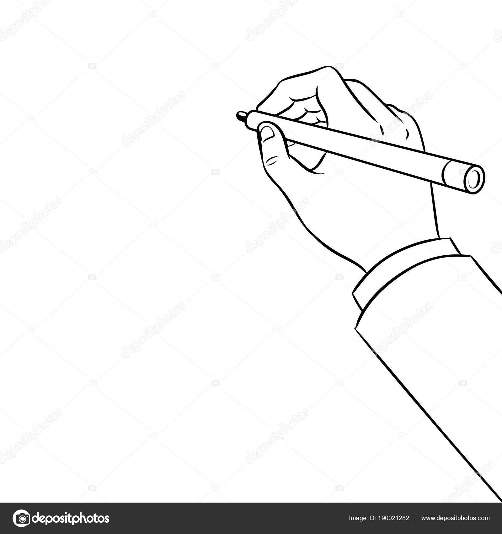 Pizarrón Para Colorear Mano Escribe En El Vector De Pizarra Para
