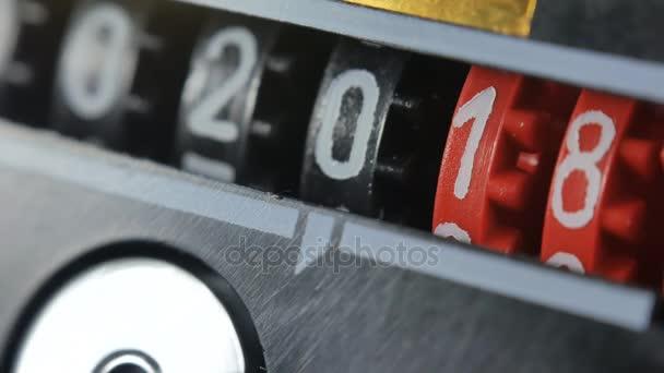 2017 2018 új évet számláló számok. Készlet-ból digitális visszaszámláló időzítővel.
