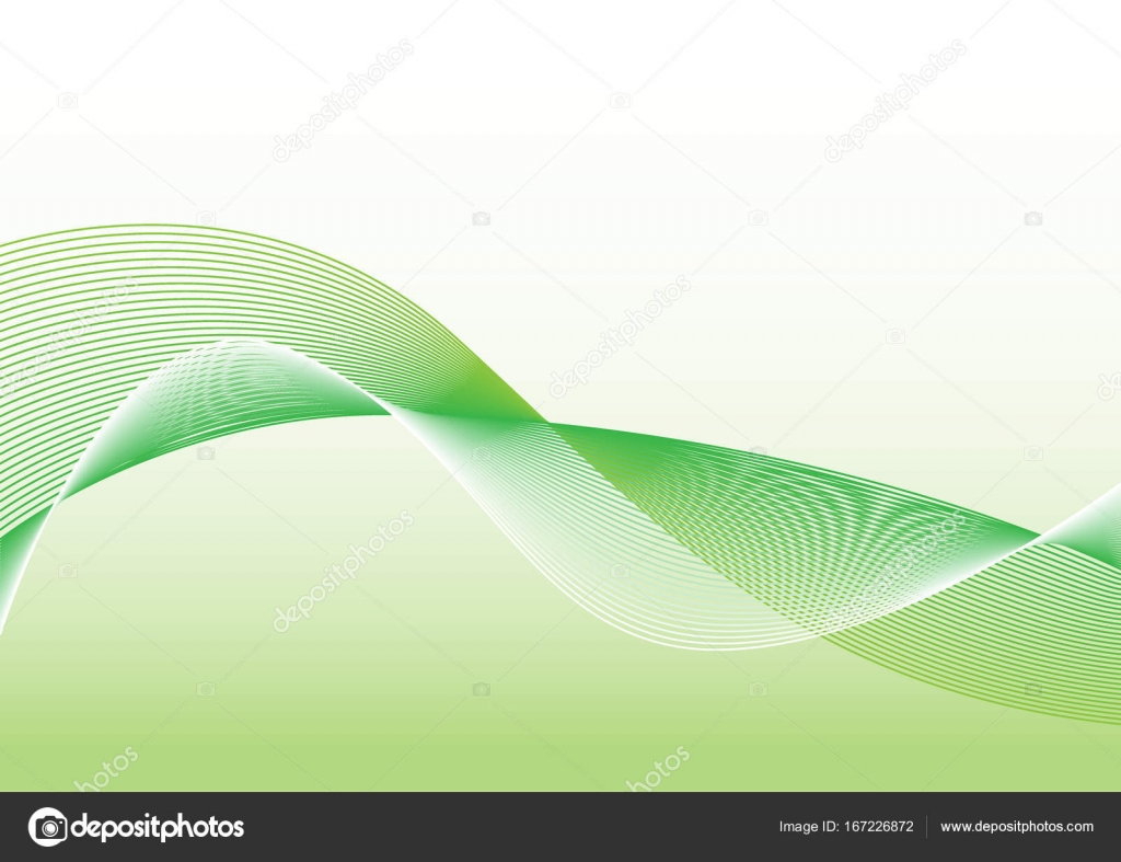 The Green Wave Vector Abstract Background Stock Vector